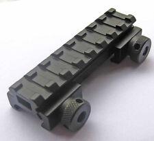 "Tactical Flat-Top 1/2"" Riser 8 slot Picatinny Weaver Rail Scope Mount See-Thru"