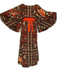 Vintage 1960s ESCALERA Dress BATIK Mexican Cotton CAFTAN M