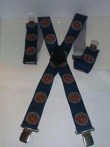 """US Marine Corp  Suspenders 2"""" Patriotic XL 48""""  USA Military Memorabilia Elastic"""