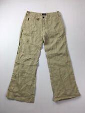 ARMANI Linen Wide Leg Trousers - W26 L30 - Beige - Great Condition