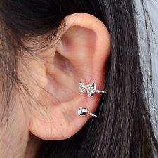Women Clip Ear Cuff Stud Punk Wrap Cartilage Earring Jewelry