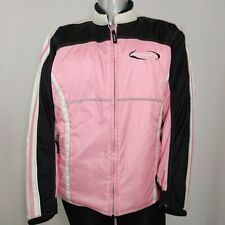 Mossi Racing Jacket Women's Large Pink Black White Snowmobile Winter Pockets