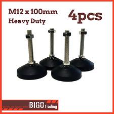4pcs M12 x 100mm Levelling Feet Adjustable Glides Leg Tilting Foot Furniture