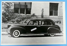 "12 By 18"" Black & White Picture 1940 Lincoln Continental Limosine"