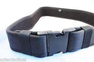 Duty Belt Black Tactical EMT SWAT SECURITY POLICE Utility Belt