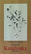Kandinsky Vassily affiche lithographie abstract art abstrait 1966 Abstraction
