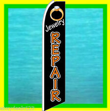 JEWELRY REPAIR BANNER FLAG Advertising Sign Feather Swooper Bow