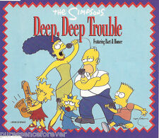THE SIMPSONS ft BART & HOMER - Deep Deep Trouble (UK 4 Tk CD Single)