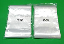 8 X 10 Zip Seal Lock Bags White Block 2 Mil Writeable Reclosable 200 Bags