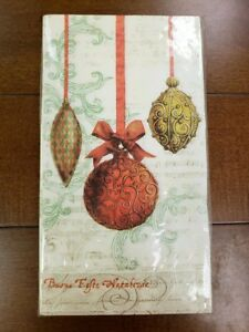 NWT C.R. Gibson TW80-15840 Christmas Past 32-Count 3-Ply Dinner Napkins Ornament