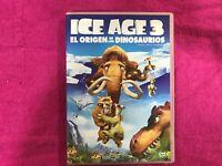 ICE AGE 3 DVD EL ORIGEN DE LOS DINOSAURIOS INCLUYE VIDEO MUSICAL Y MAS CONTENIDO