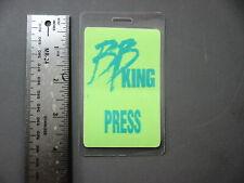 B. B. King backstage pass Laminated Press (green) !