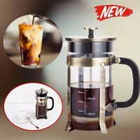 NEW 1000ML French Press Coffee Tea Maker Pot Stainless Steel Filter Tools Homost