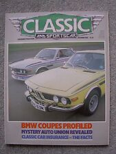 Classic & SportsCar (Dec 1985) BMW 2800CS, CSi, CSL, Lotus-Cortina, Healey 100/6