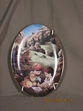 "Rare Precious Moments Plate ""Good Samaritan"" w/ metal hanging frame"