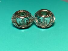 🌸 2-  Pandora 925 Sterling Silver Fascinating Clear Murano Bead (B13) 🌸