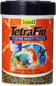 Tetra Goldfish Floating Variety Pellets Goldfish Food, 1.87 oz 4 Pack)
