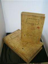 Nesting Book Boxes NWT Set of 2 Vintage Inspired Script Decor Faux Book Storage
