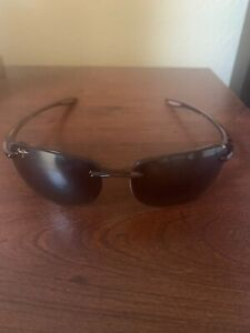 Maui Jim Mens Sandy Beach Rimless Sunglasses, Tortoise, Bronze Polarized, Small