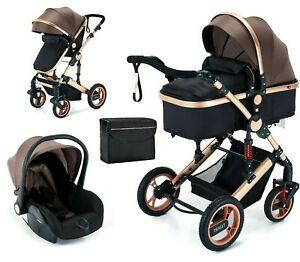 Trally® 3in1 Kombi-Kinderwagen Babywanne Buggy Reisebuggy & Auto-Babyschale 11