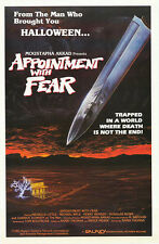 APPOINTMENT WITH FEAR (1985) ORIGINAL MOVIE POSTER  -  ROLLED