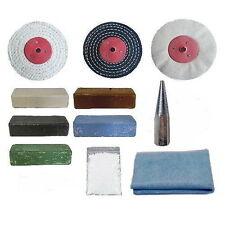 """SMERIGLIATRICE angolare/Lucidatore Auto in metallo per la pulizia Kit-Adattatore m14-2 - 4"""" x 1"""" Stracci"""