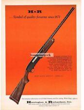 1970 H&R Harrington & Richardson Model 442 Pump-Action Shotgun Vtg Print Ad