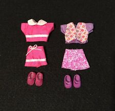 Vintage Barbie Kelly Doll Two 1999 Fashion Favorite Outfits With Shoes