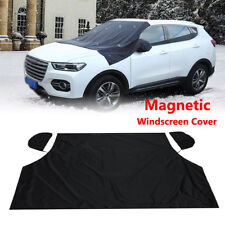 Windshield Snow Cover Magnetic Waterproof Car Ice Frost Sunshade Protector Black