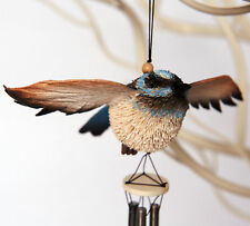 Blue Wren Australian Animal Metal Wind Chime Hanging Ornament Souvenir *NEW*