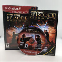 Star Wars: Episode III: Revenge of the Sith (Sony PlayStation 2, 2005) Complete!
