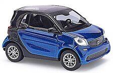Smart Deux places 453 Troisième Génération 2014-15 bleu bleu métallisé 1:87