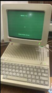 VTG Apple IIc2c Computer, Works Computer Monitor Printer Ink Cartridges Books