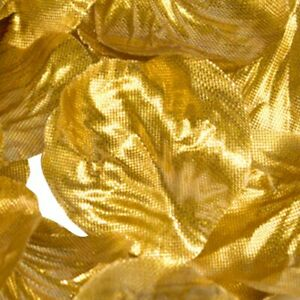 Metallic Gold Rose Petals Fabric Confetti (164 Petals)