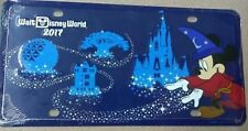 Disney Parks 2017 Mickey Mouse Sorcerer License Plate New Sealed