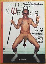 SIGNED Terry Richardson RARE Foil America Japanese Magazine Ryuichi Sakamoto