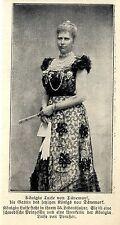 Die Urenkelin der Königin Luise v.Preußen Historische Aufnahme von 1906