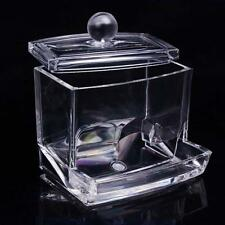 Clear Q-tip Cotton Swab Organizer Acrylic Box Makeup Storage Cosmetic Holder