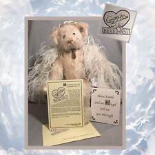 """Annette Funicello """"Faith� 19� Pink Mohair Angel Bear - Original Box Coa #3038"""