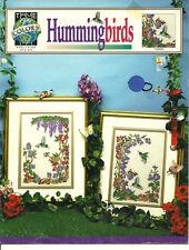 Hummingbirds Counted Cross Stitch Pattern Leaflet flowers animals bird 2 designs