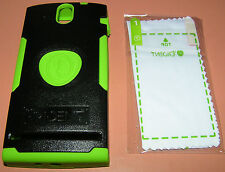 Trident Aegis Hybrid case Sony Ericsson Xperia U, Black and Green, New in pkg