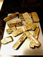 246 grams Scrap gold bar for Gold Recovery melted different computer coin pins