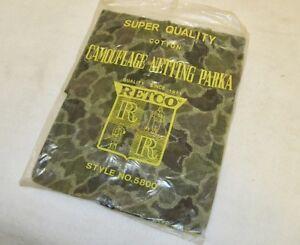 NEW Vintage *RETCO* Camouflage Netting Hunting Parka Jacket *MEDIUM* Size Cotton