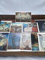 Vintage postcard lot 10 MCM art Salvador Dali Max Ernst artist William Tell