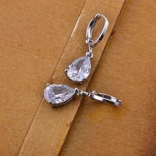 white gold filled earrings earings cz crystal cubic zirconia dangle