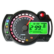 LCD Digital Motorcycle Speedometer Odometer Motorbike Tachometer Gauge Clock LED