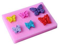 Butterfly 6 Cavity Silicone Mold for Fondant, Gum Paste, Chocolate, Craft