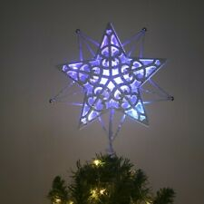 Christmas tree topper décoration 200mm incassable paillettes star 12 couleurs