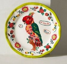 ANTHROPOLOGIE PARROT Nathalie Lete Francophile Dinner Plate * Collect RARE!!!!!