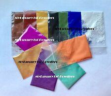 LOT of 12 1g MATTE & MICA SAMPLES Soap Pigment OxideTitanium Ultramarine Powder